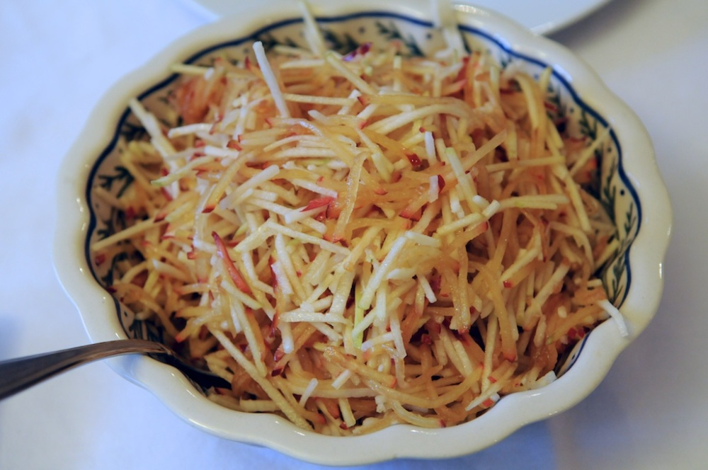 Jicama apple plum slaw