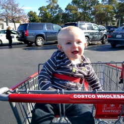 First time in a shopping cart too!