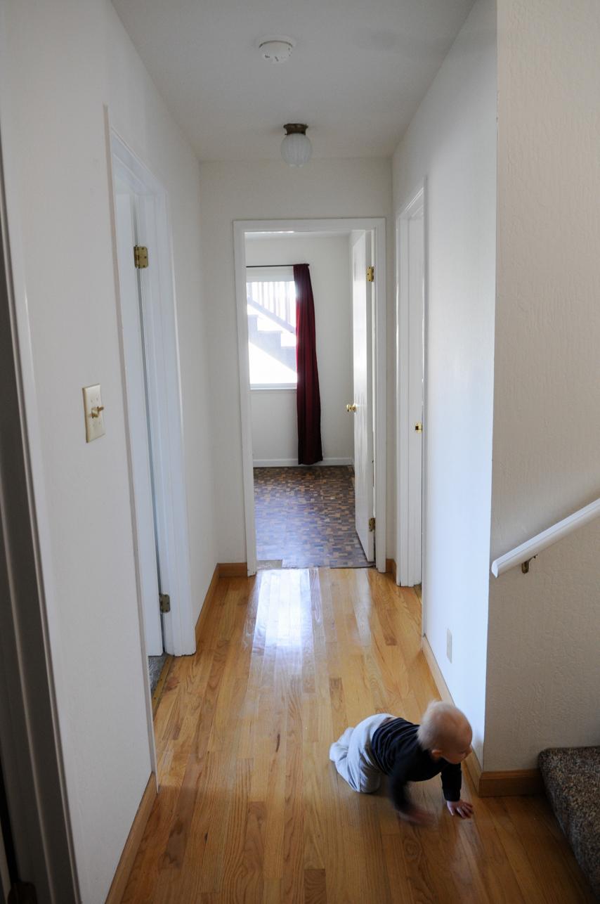 Downstairs hallways