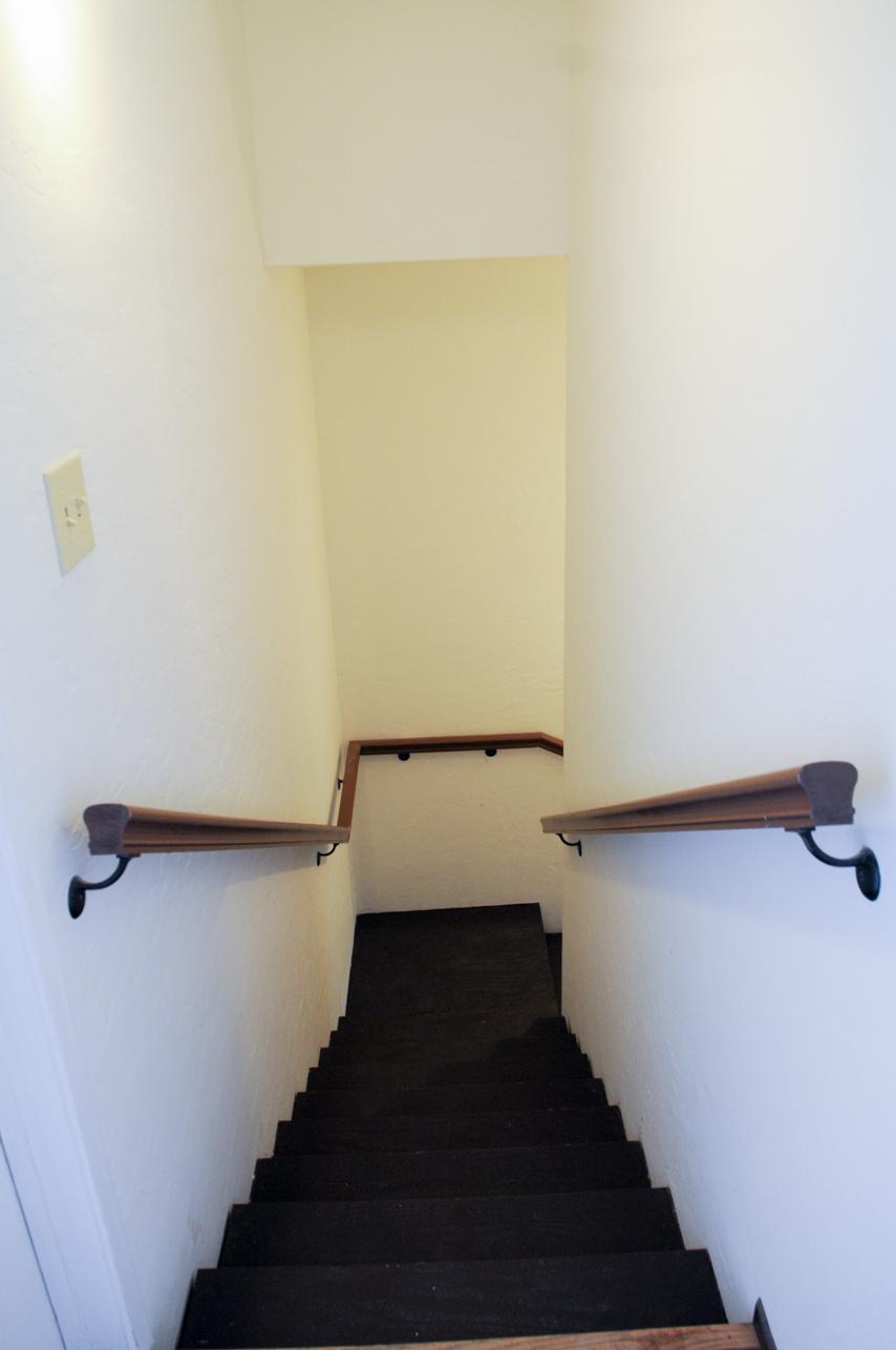 Stairs to garage