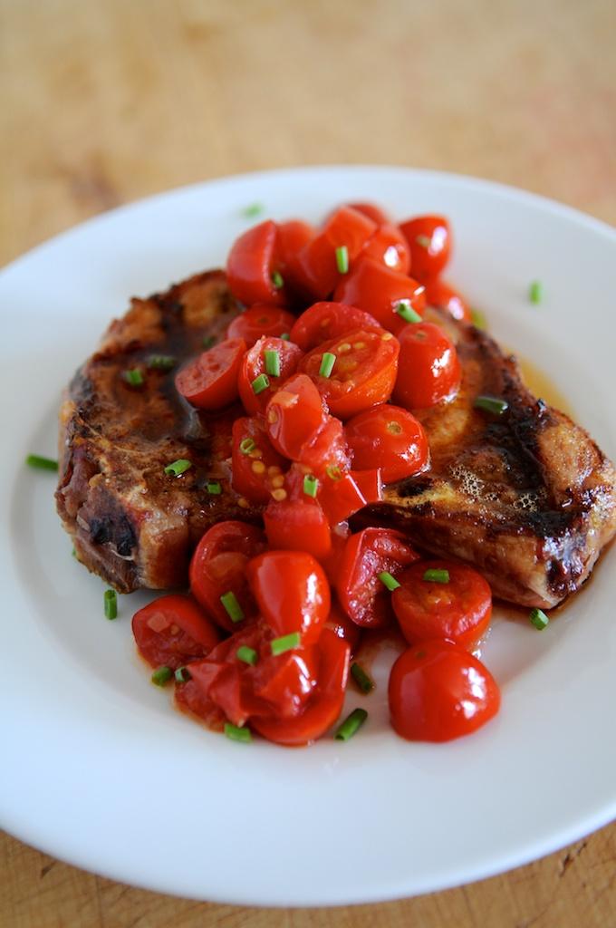 Chunky tomato vinaigrette