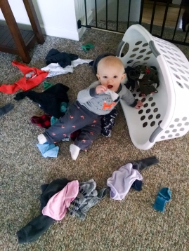 Sorting laundry