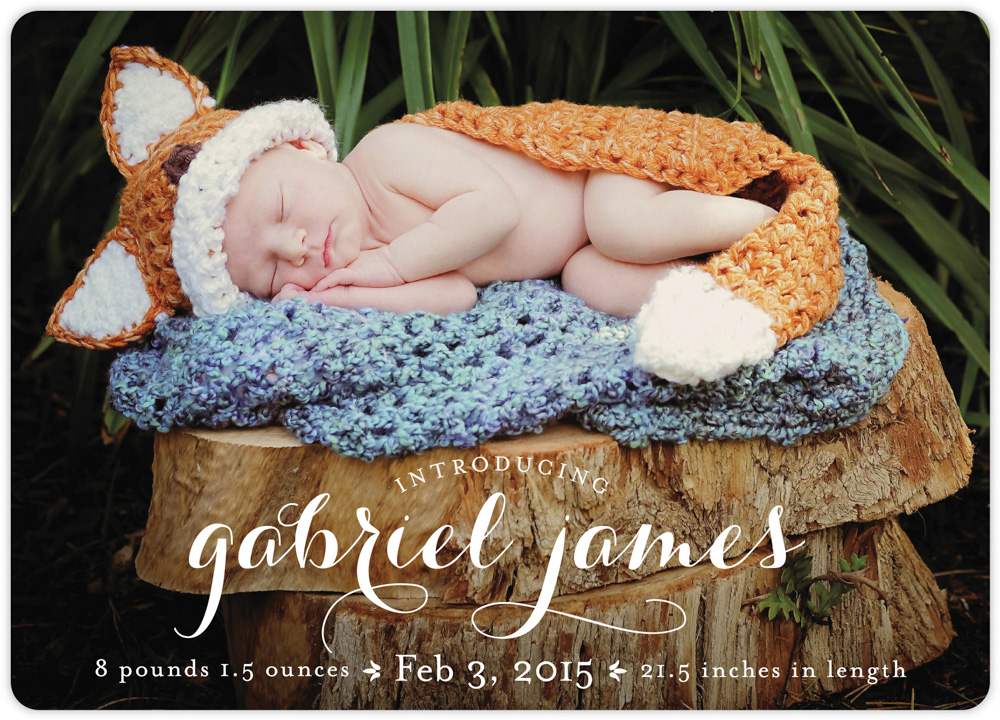 Birth announcement front