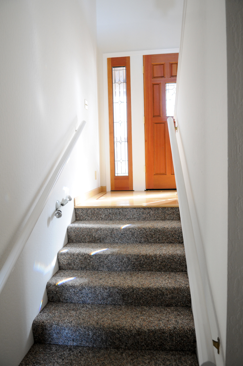 Entry from downstairs