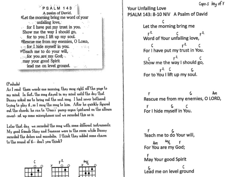 Psalm 143:8-10 NIV