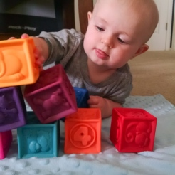 Starting to be a bit more interested in his blocks.