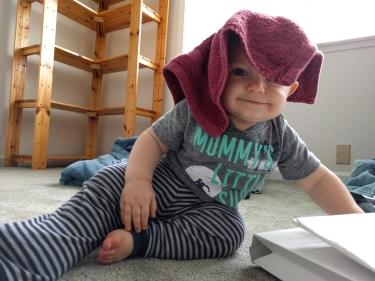 Washcloth wearing