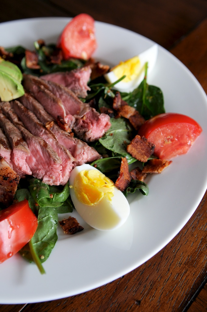 Steak and Spinach Salad
