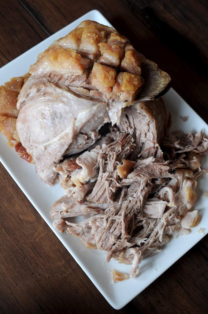 Shredded roast pork