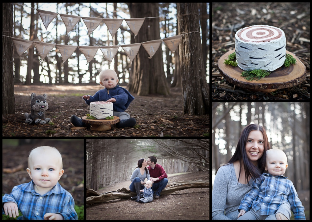 A beautiful collage of our family portraits/first birthday shoot with Michelle Smarr.