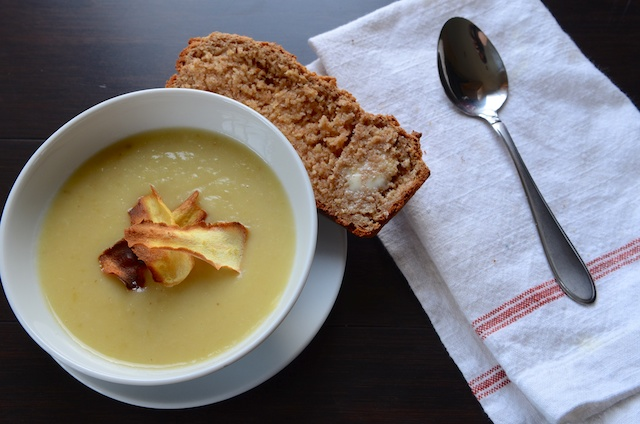 Parsnip, apple, ginger soup