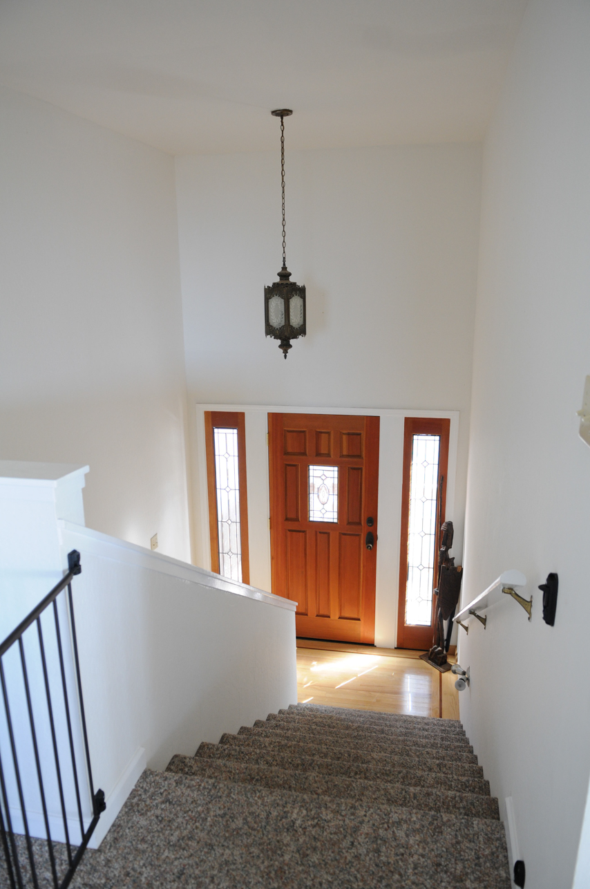 Entry from upstairs