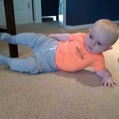 Just hanging out in a side plank.