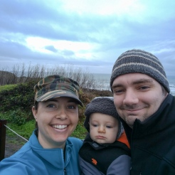 Family bluff top walk. We finished just in time. As soon as we got home it started pouring down raining.