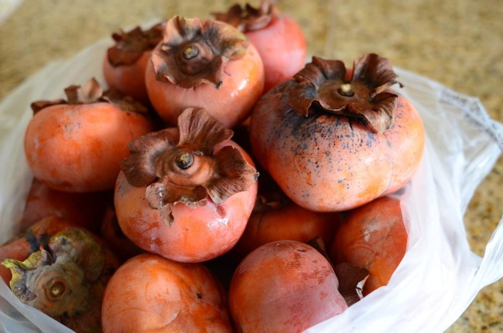 Very ripe persimmons